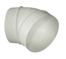 UK-OS-100/45 oblouk plastový 45° pro kruhové potrubí